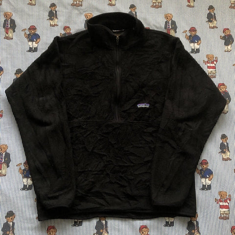 Vintage Black Patagonia Synchilla Half Zip Fleece 🏔(S)-Fleeces-DISTINCT - THREADS