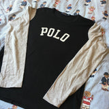 Vintage Black Polo Ralph Lauren Long Sleeve Tshirt (L) - DISTINCT - THREADS - T Shirts