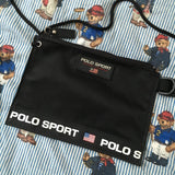Vintage Black Polo Sport Purse / Bag-Hats/Accessories-DISTINCT - THREADS