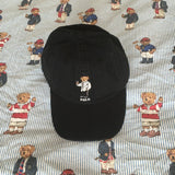 Vintage Black Ralph Lauren Polo Bear Six Panel Cap 🐻 (Evening)-Hats/Accessories-DISTINCT - THREADS