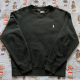 Vintage Black Ralph Lauren Sweatshirt 🎱 (S/M)-Sweatshirts/Jumpers-DISTINCT - THREADS