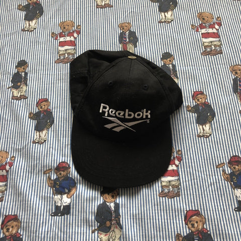 Vintage Black Reebok Cap-Hats/Accessories-DISTINCT - THREADS