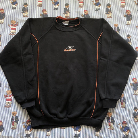 Vintage Black Reebok Sweatshirt (XL/L)-Sweatshirts/Jumpers-DISTINCT - THREADS