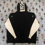 Vintage Black & White Lacoste Sport Hoodie 🐊🎱 (L)-Sweatshirts/Jumpers-DISTINCT - THREADS