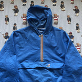 Vintage Blue 1/4 Zip Kway Pac A Mac Jacket (M)-Jackets/Coats-DISTINCT - THREADS