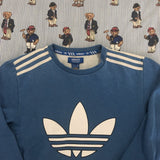 Vintage Blue Adidas Original Sweatshirt (S/M)-Sweatshirts/Jumpers-DISTINCT - THREADS