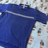 Vintage Blue Adidas Polo Shirt (M)-Polos-DISTINCT - THREADS