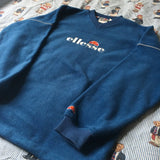 Vintage Blue Ellesse Fleece-Fleeces-DISTINCT - THREADS