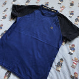 Vintage Blue & Navy Fred Perry T Shirt (L)-T Shirts-DISTINCT - THREADS