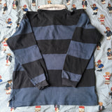 Vintage Blue & Navy Striped Ralph Lauren Rugby Shirt (L)-Rugby Tops-DISTINCT - THREADS