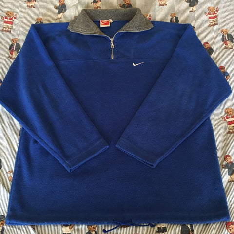 Vintage Blue Nike 1/4 Zip Fleece 🔵 (XL)-Fleeces-DISTINCT - THREADS