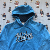 Vintage Blue Nike Hoodie (M)-Sweatshirts/Jumpers-DISTINCT - THREADS