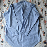 Vintage Blue Ralph Lauren Blake Cotton Button Down Shirt (L)-Shirts-DISTINCT - THREADS