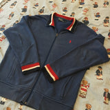Vintage Blue Ralph Lauren Full Zip Sweatshirt (L)-Sweatshirts/Jumpers-DISTINCT - THREADS