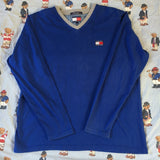 Vintage Blue Tommy Hilfiger Long Sleeve T Shirt (L)-T Shirts-DISTINCT - THREADS