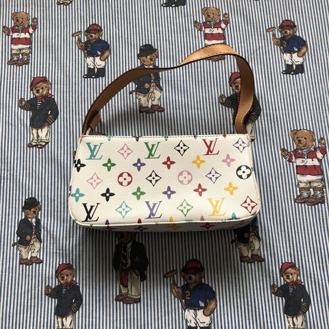 Vintage Bootleg White Louis Vuitton Bag-Hats/Accessories-DISTINCT - THREADS