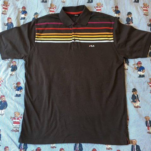 Vintage Brown Fila Polo Shirt (L)-Polos-DISTINCT - THREADS