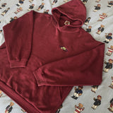 Vintage Burgundy Nike Pullover Hoodie (L)-Sweatshirts/Jumpers-DISTINCT - THREADS