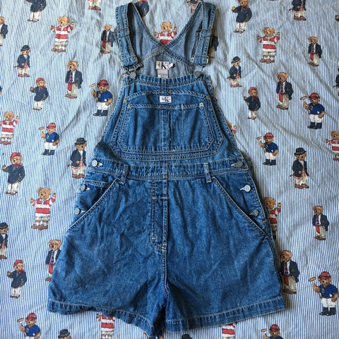 Vintage Calvin Klein Dungaree Shorts (M)-Bottoms-DISTINCT - THREADS