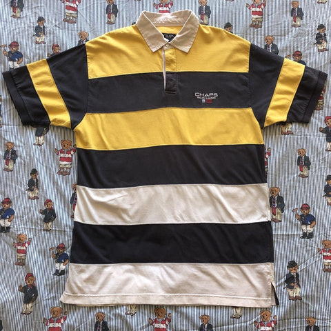 Vintage Chaps Ralph Lauren Short Sleeve Rugby Shirt Shirt-Rugby Tops-DISTINCT - THREADS