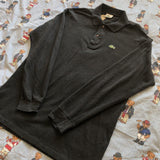 Vintage Charcoal Lacoste Long Sleeve Polo Shirt 🐊 (5/M)-Polos-DISTINCT - THREADS