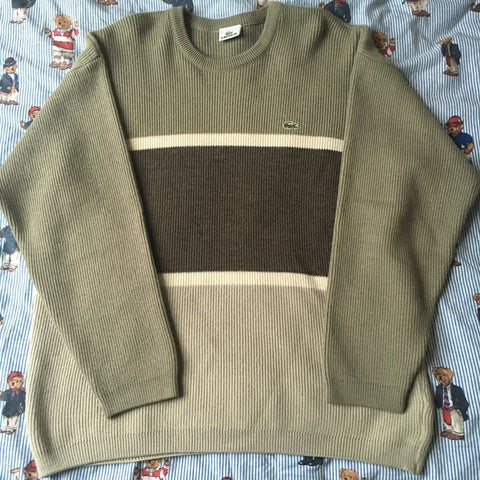 Vintage Colour Block Lacoste Jumper (L)-Sweatshirts/Jumpers-DISTINCT - THREADS
