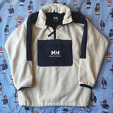 Vintage Cream Helly Hansen 1/4 Fleece (S-M)-Fleeces-DISTINCT - THREADS