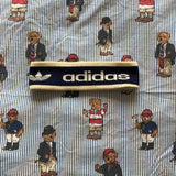 Vintage Cream & Navy Adidas Originals Headband-Hats/Accessories-DISTINCT - THREADS