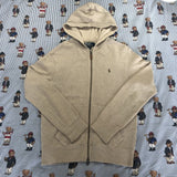 Vintage Cream / Oatmeal Ralph Lauren Hoodie (S/M)-Sweatshirts/Jumpers-DISTINCT - THREADS