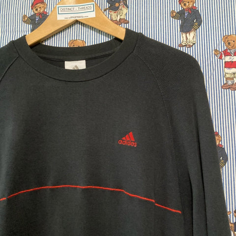 Vintage Dark Grey Adidas Sweatshirt (L)-Sweatshirts/Jumpers-DISTINCT - THREADS