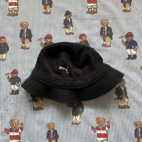 Vintage Dark Navy Puma Fleece Bucket Hat-Hats/Accessories-DISTINCT - THREADS
