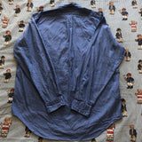 "Vintage Denim Blue Ralph Lauren Button Down Shirt (16.5"")-Shirts-DISTINCT - THREADS"