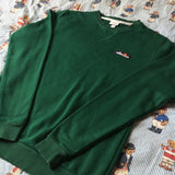 Vintage Forest Green Ellesse Sweatshirt 🌲 (M)-Sweatshirts/Jumpers-DISTINCT - THREADS