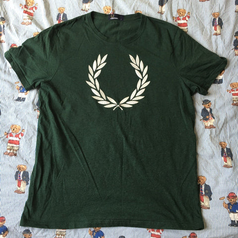 Vintage Forest Green Fred Perry T Shirt (L)-Shirts-DISTINCT - THREADS