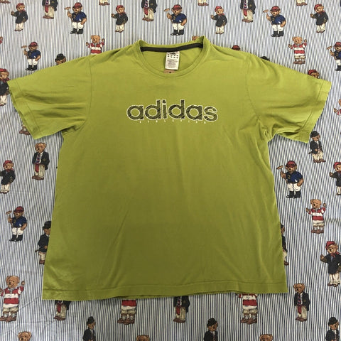 Vintage Green Adidas T Shirt (L)-T Shirts-DISTINCT - THREADS