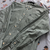 Vintage Green Check Fred Perry Shirt (L)-Shirts-DISTINCT - THREADS