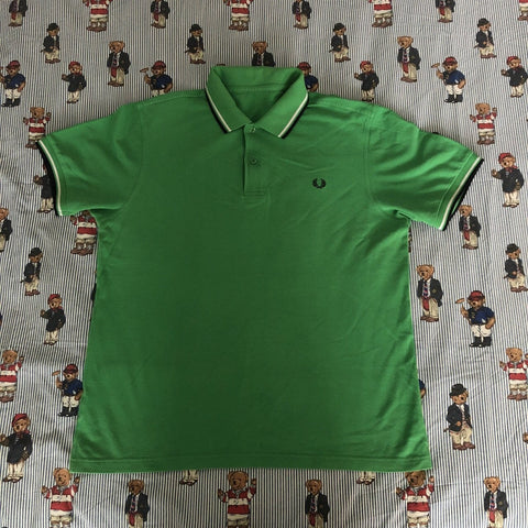 Vintage Green Fred Perry Polo Shirt (L)-Polos-DISTINCT - THREADS