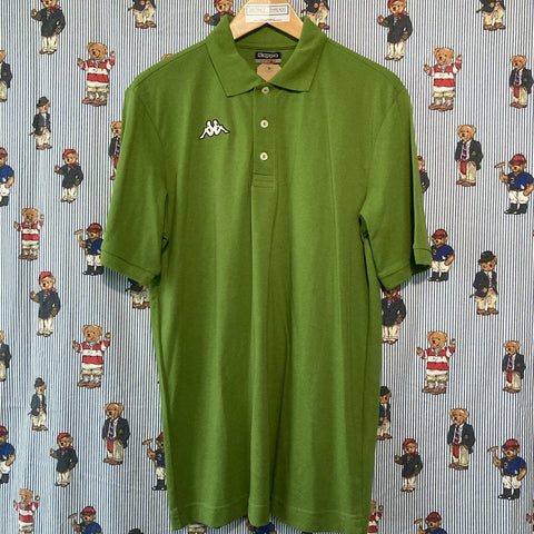 Vintage Green Kappa Polo Shirt (L)-Polos-DISTINCT - THREADS