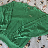 Vintage Green Lacoste Sweatshirt 🐊 (L)-Sweatshirts/Jumpers-DISTINCT - THREADS