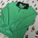Vintage Green Nautica 1/4 Zip Sweatshirt (XL/L)-Sweatshirts/Jumpers-DISTINCT - THREADS