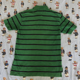 Vintage Green & Navy Striped Tommy Hilfiger Polo Shirt (L)-Polos-DISTINCT - THREADS