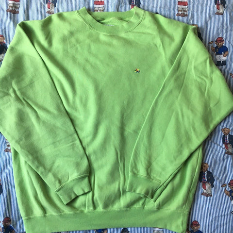 Vintage Green United Colors Of Benetton Sweatshirt (XL)-Sweatshirts/Jumpers-DISTINCT - THREADS