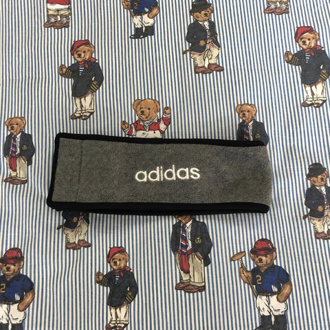 Vintage Grey Adidas Fleece Headband-Hats/Accessories-DISTINCT - THREADS