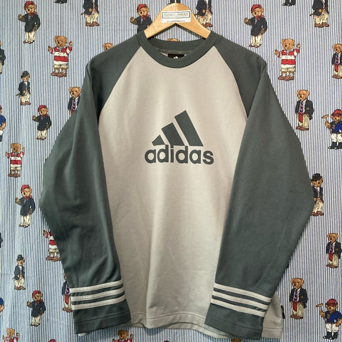 Vintage Grey Adidas Sweatshirt (L)-Sweatshirts/Jumpers-DISTINCT - THREADS