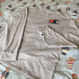 Vintage Grey Champion Long Sleeve Tshirt (M)-T Shirts-DISTINCT - THREADS