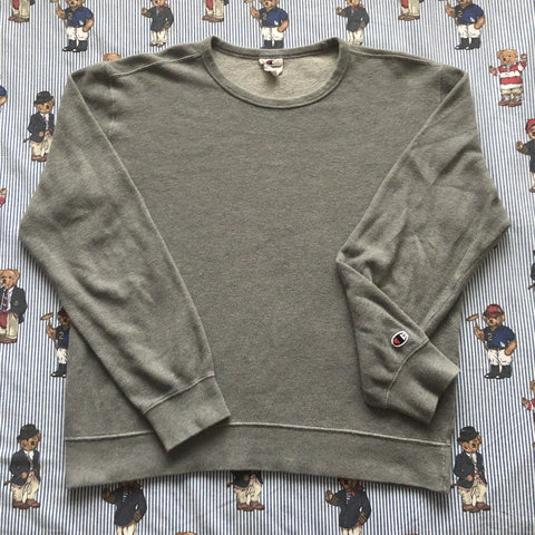 Vintage Grey Champion Sweatshirt (M)-Sweatshirts/Jumpers-DISTINCT - THREADS