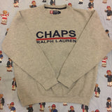 Vintage Grey Chaps Ralph Lauren Sweatshirt (L)-Sweatshirts/Jumpers-DISTINCT - THREADS