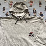 Vintage Grey Fila Pullover Hoodie (L)-Sweatshirts/Jumpers-DISTINCT - THREADS