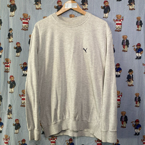 Vintage Grey Fred Perry Sweatshirt (M)-Sweatshirts/Jumpers-DISTINCT - THREADS