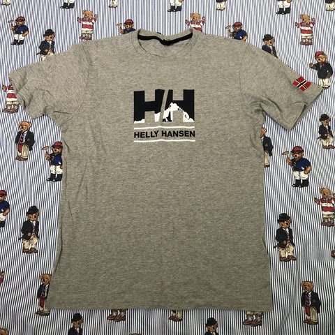 Vintage Grey Helly Hansen T Shirt (M)-T Shirts-DISTINCT - THREADS